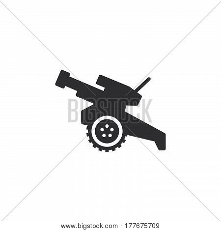 Howitzer cannon icon vector filled flat sign solid pictogram isolated on white. Symbol logo illustration