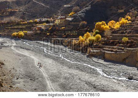 Lupra Village, Panda Khola River, Lower Mustang Nepal