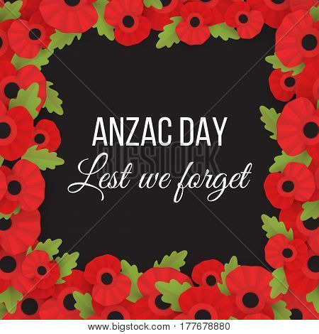 Decorative papper poppy for Anzac Day is a national day of remembrance in Australia and New Zealand. Lest we forget.