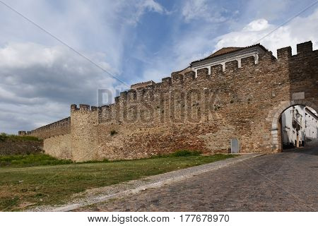 Walls of Estremoz in the Alentejo region Portugal