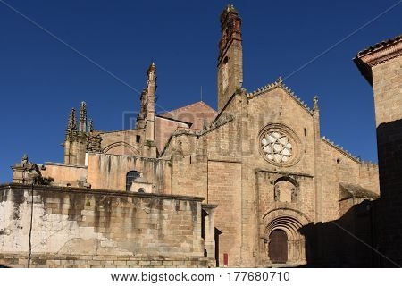 Romanesque Façade Of The Old Cathedral (aka St Mary's Church), Plasencia. Caceres Province, Extremad
