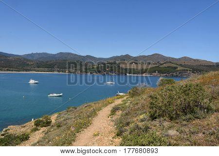 Road leading (Cami de Ronda) to Ras Cape Colera Costa Brava Girona province Catalonia Spain
