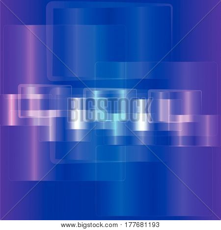 Abstract rectangle on blue background. Vector illustration.