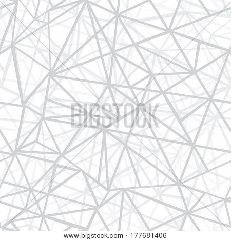 Vector Silver Grey Wire Geometric Mosaic Triangles Repeat Seamless Pattern Background. Can Be Used For Fabric, Wallpaper, Stationery, Packaging. Surface pattern design.