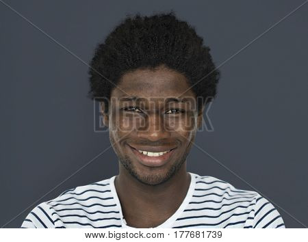 African Descent Man Smiling Concept