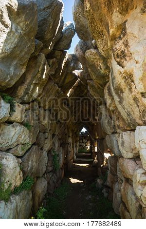 East Gallery Of Tiryns Acropolis