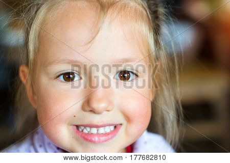 Baby Smiles, Showing White Teeth
