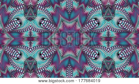 Kaleidoscopic multicolor pattern is computer graphics and it can be used in the design of textiles in the printing industry in a variety of design projects.