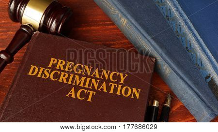 Book with title The Pregnancy Discrimination Act.