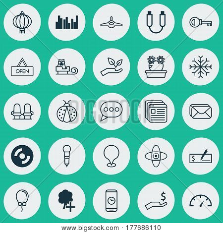 Set Of 25 Universal Editable Icons. Can Be Used For Web, Mobile And App Design. Includes Elements Such As Website Bookmarks, Speed Checker, Rich And More.