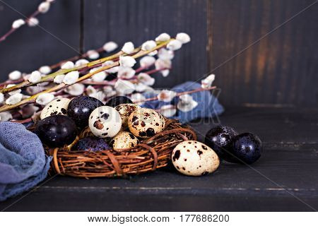 Easter Still Life. Easter Eggs.