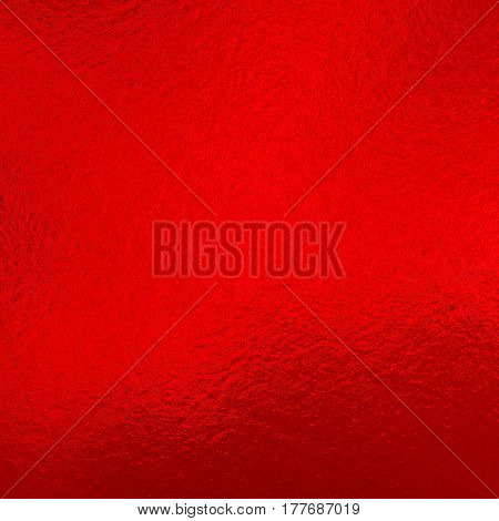 Red metallic foil for design and creativity