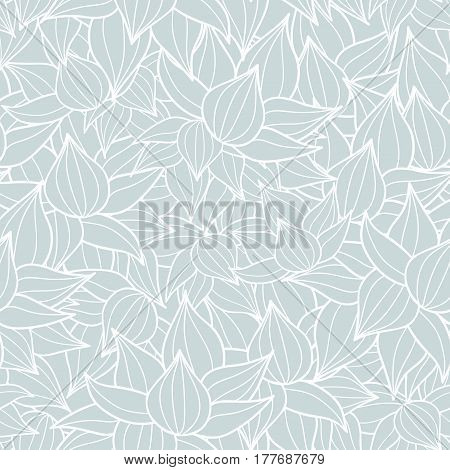 Vector succulent plant texture drawing seamless pattern background. Great for subtle, botanical, modern backgrounds, fabric, scrapbooking, packaging, invitations. Repeat pattern design.