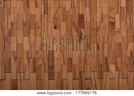 Wooden mat texture napkin for hot dishes top view.