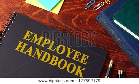 Employee Handbook or manual in an office.