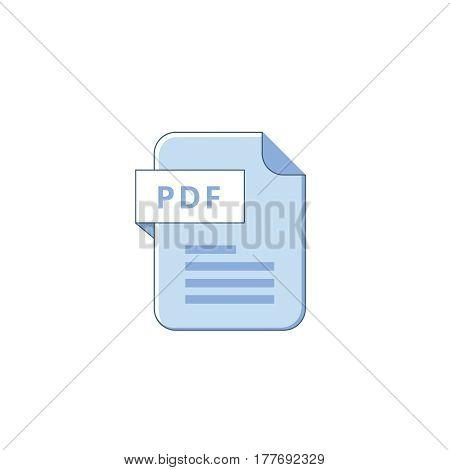 PDF file icon. Flat design graphic illustration. Vector PDF icon.