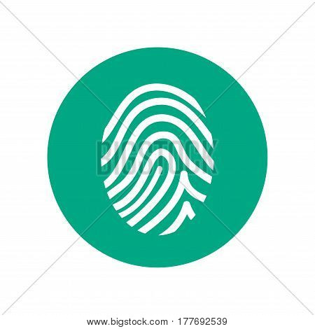 Fingerprint simple vector icon isolated on white background