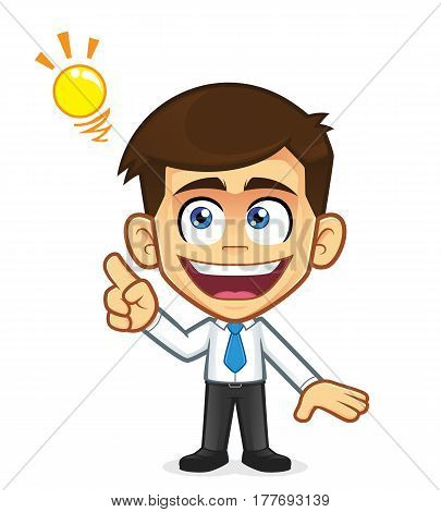 Clipart picture of a businessman cartoon character creative idea