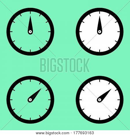 Black Clock Watcher Timer Icon.