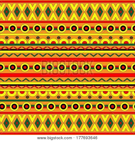 Ethnic boho seamless pattern. Tribal art print. Colorful border background texture. Fabric, cloth design, wallpaper, wrapping