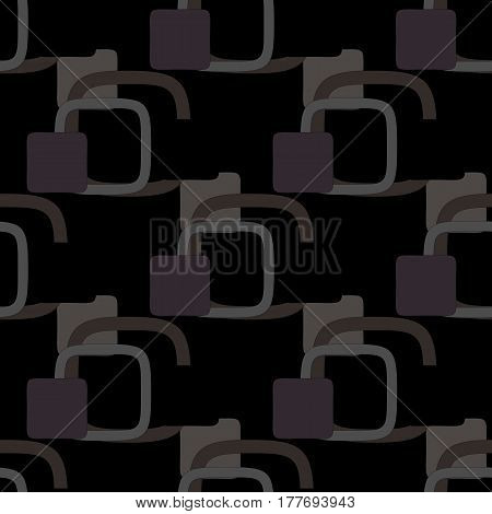 Abstract geometric seamless pattern or background on a black background