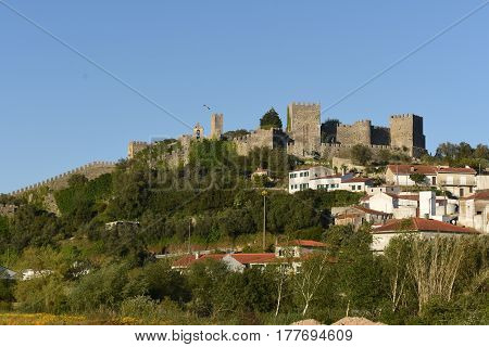 View of the village and the castle of Montemor o velho, Portugal