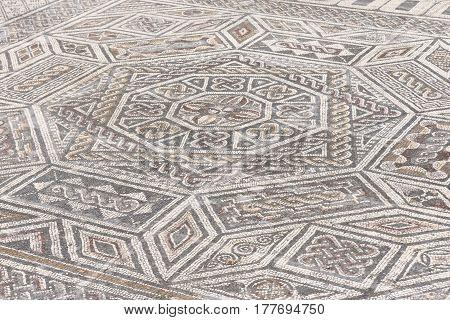 Mosaics of roman ruins of the ancient city of ConímbrigaBeiras region Portugal