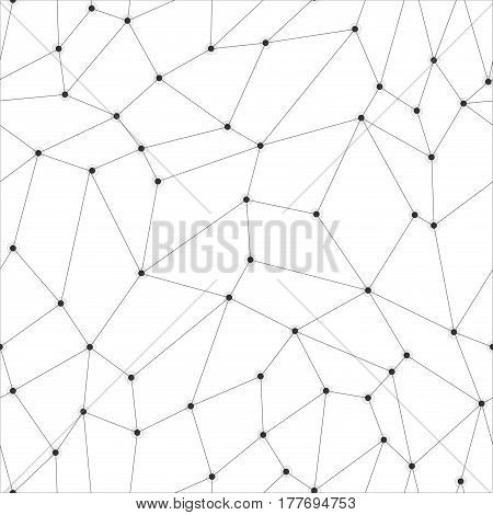 Geometric abstract background. Vector technology pattern with points.