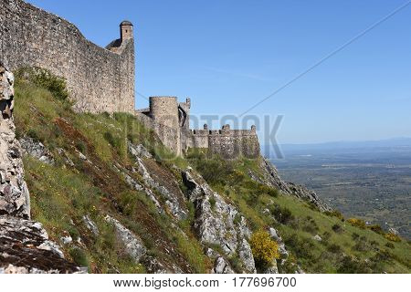 Walls Of Castle Of Marvao, Alentejo Region, Portugal