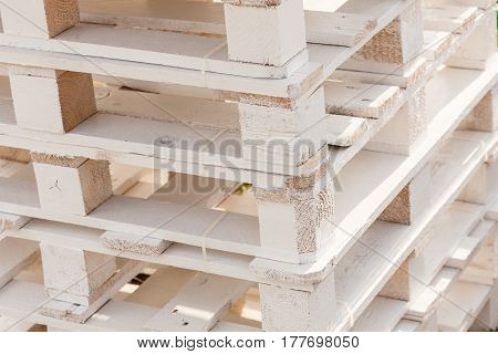 Detailed Closeup Of Wooden Pallets