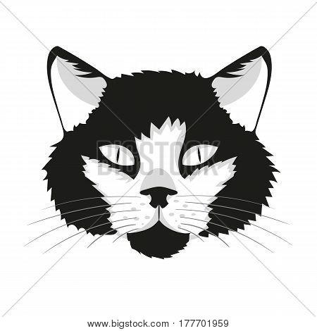 animal Cat print cat face vector illustration