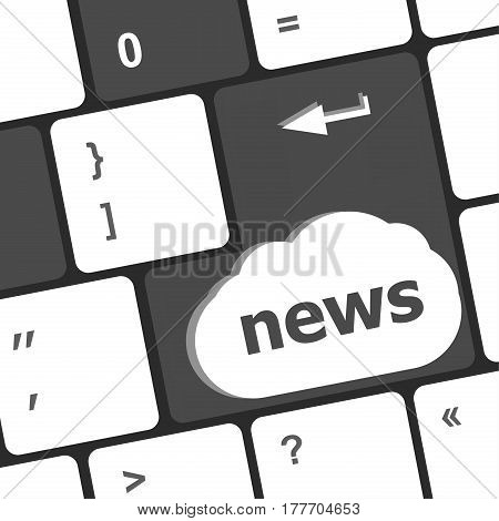 News Text On A Button Keyboard Keys