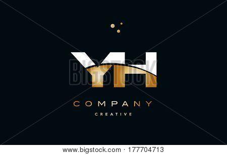 Yg Y G  White Yellow Gold Golden Luxury Alphabet Letter Logo Icon Template