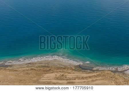 Dead Sea And Desert Landscape Of Israel