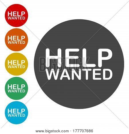 Help Wanted Sign icon, simple vector illustration