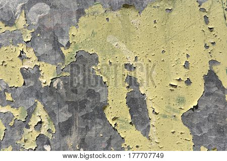 Detail of a Galvanized metal paint chipping