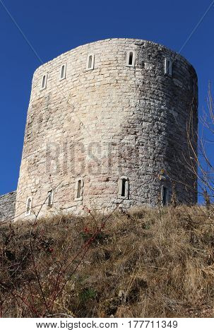Watchtower Of An Ancient Fortress Used By Soldiers During The Fi
