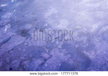 Texture Of Melted Ice On A Small River