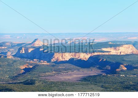 Panoramic view of Bryce Canyon National Park in the sun, Utah, USA