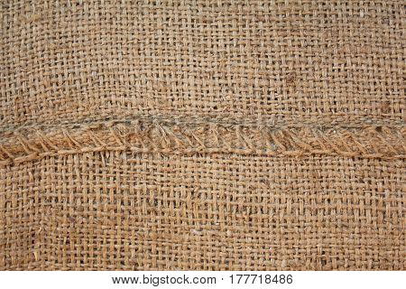 line of Hessian sackcloth woven texture pattern background