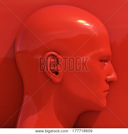 3d render: Mannequin Dummy Head