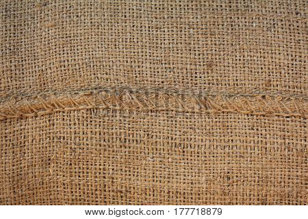 Hessian sackcloth woven texture pattern background in my house