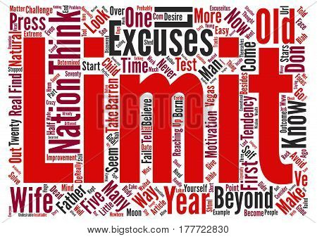 Avoid This Tendency And You ll Press Beyond Your Limits text background word cloud concept