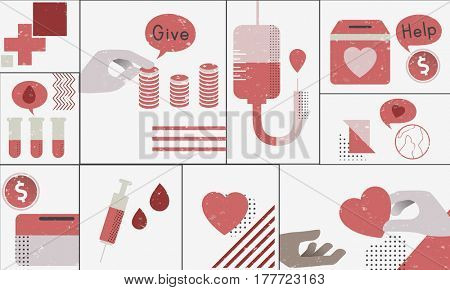Blood Donation Healthcare Medical Graphic