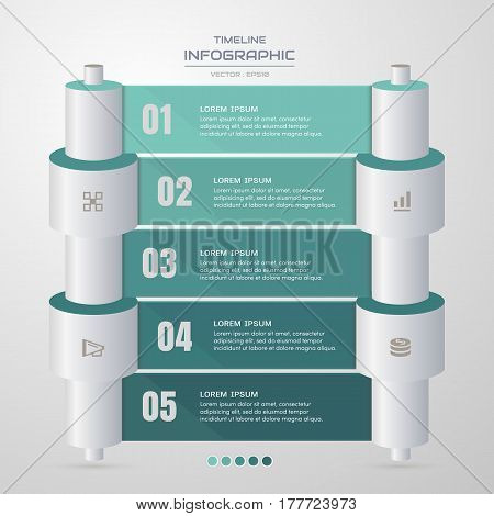 Infographics design template with business icons process diagram vector eps10 illustration