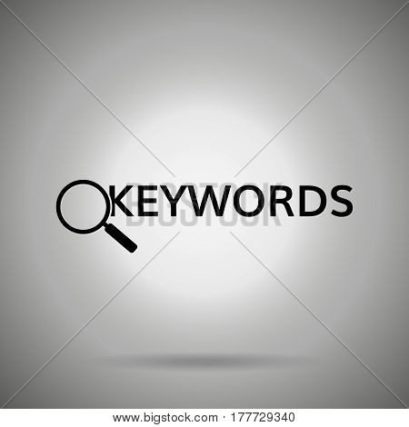 search keywords icon . magnifier and  word