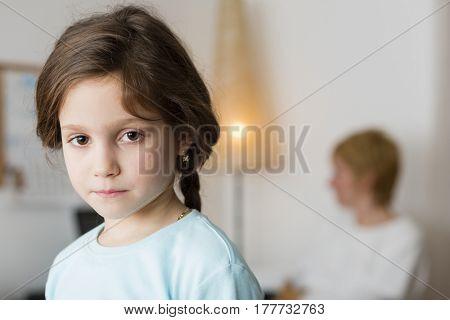 Sad, neglected girl