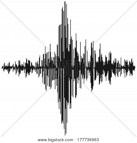 Vector sound waves. Audio equalizer technology, pulse musical Synthesis and electronic sound hearing