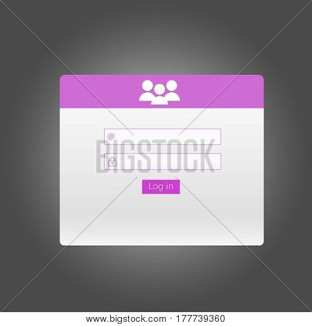 login form for website Vector. Login user interface