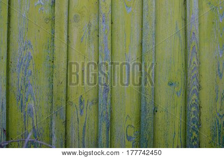 Old Wooden Board Green Background Texture